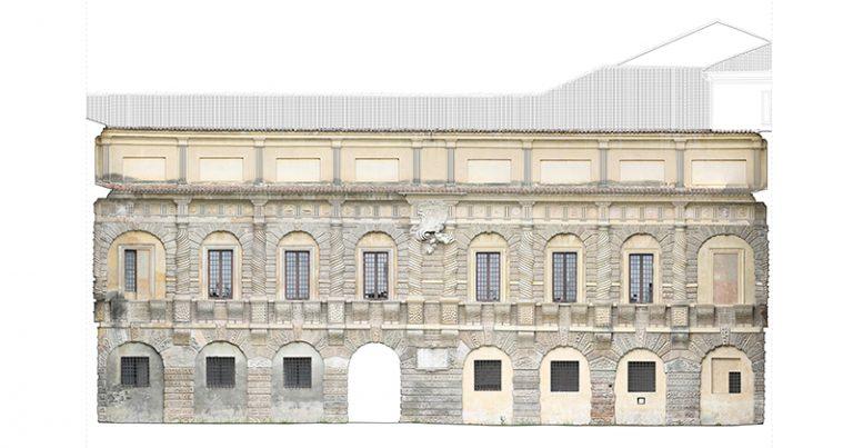galleria della mostra_facade towards cavallerizza coourtyard_mantova_ducal palace_mantovalab survey