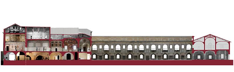 rustica_cavallerizza courtyard_corte nuova_section_ducal palace_mantova_mantovalab_