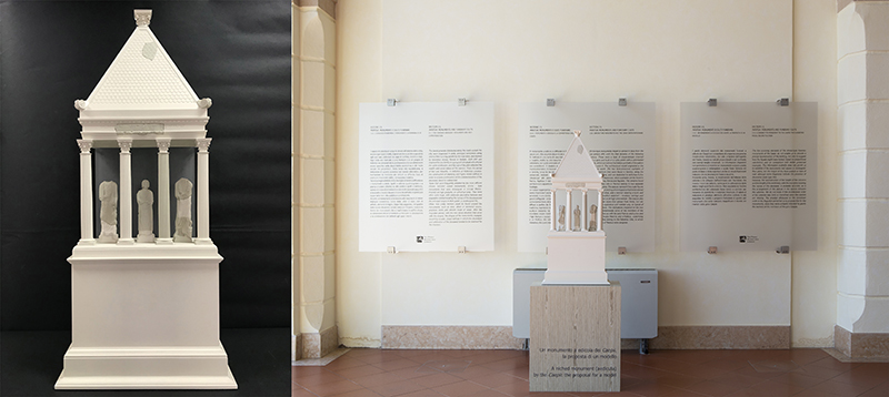 roman edicula_3D reconstruction_arcaeological museum_mantova_mantovalab