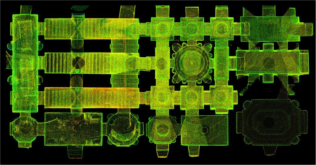 laser scanner Scala Santa appartamento dei nani Mantova Palazzo Ducale- mantovalab