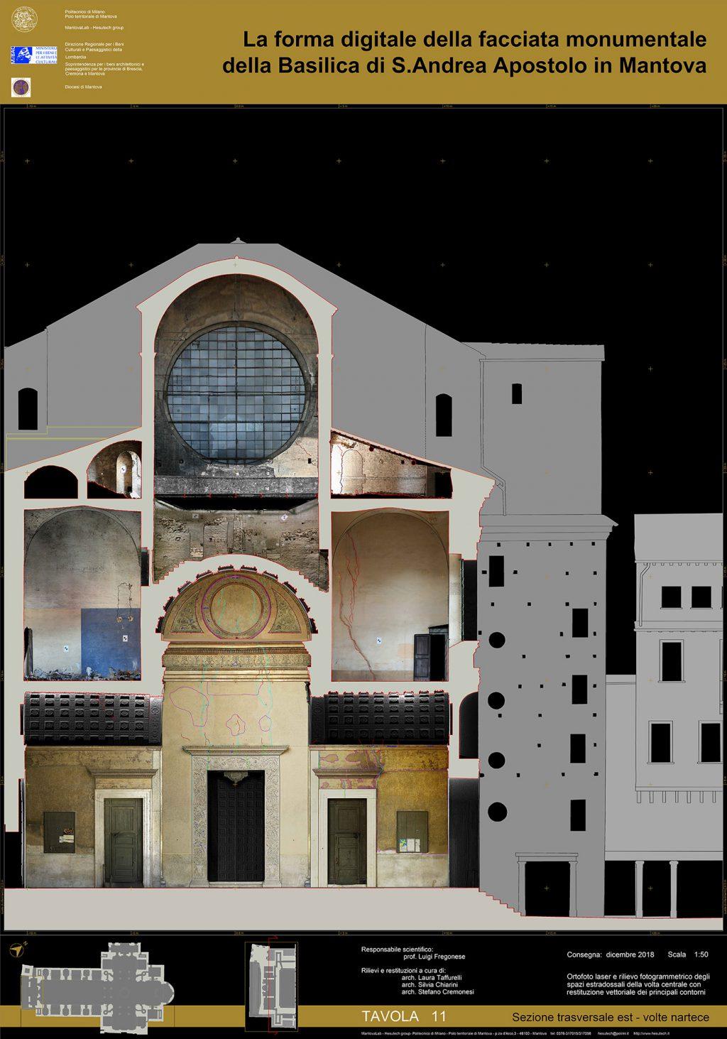 facade section basilica sant andrea mantova leon battista alberti survey hesutech