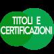 icona titoli e certificazioni